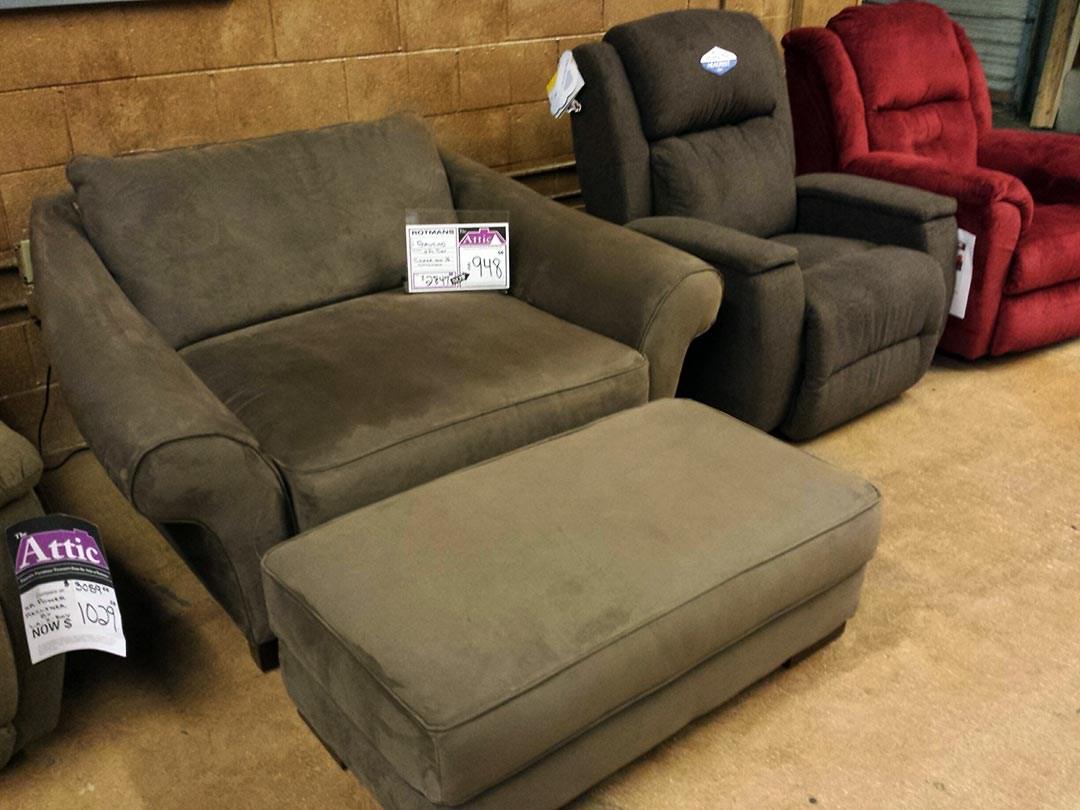 Clearance Chair & Ottoman