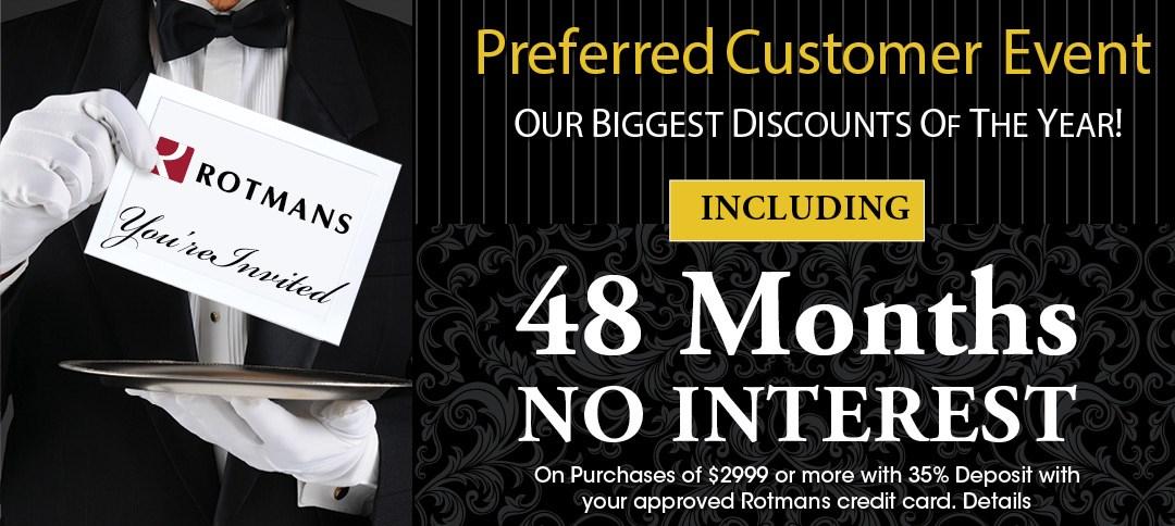 Customer Appreciation Credit Offer. 48 Months no interest