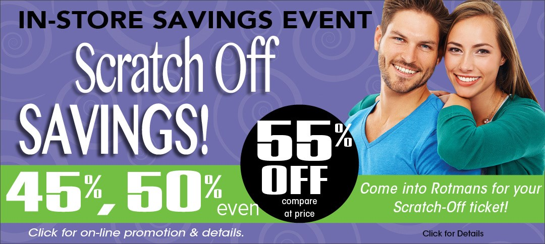 In-Store Scratch Off Savings Event