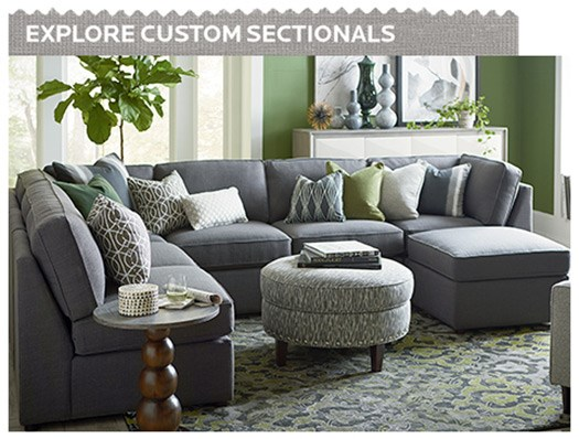 Explore Basset Custom Sectionals