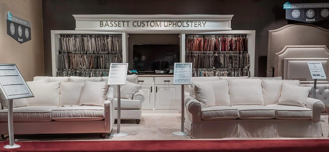 Bassett Custom Upholstery Display