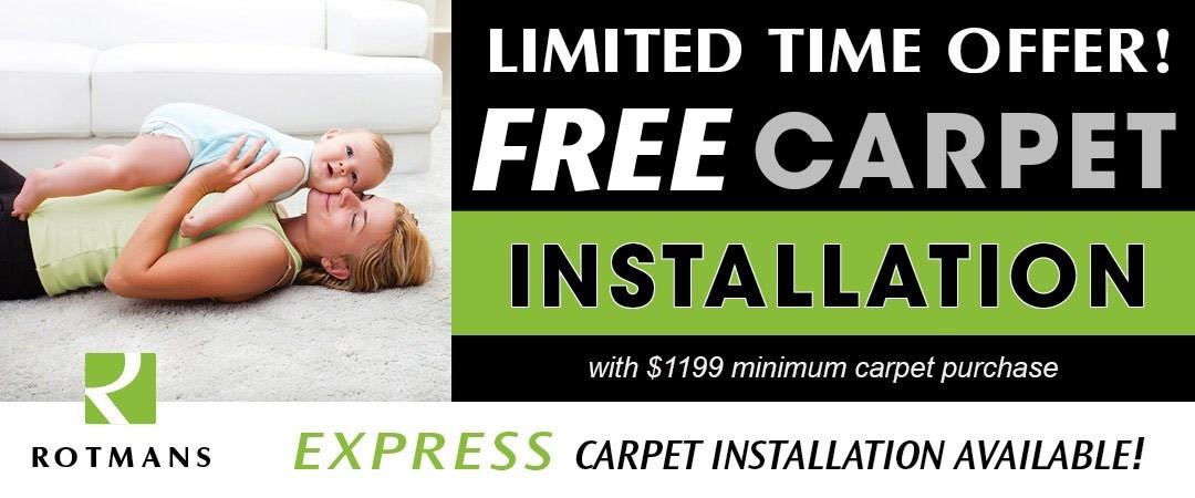 Free Carpet Installation