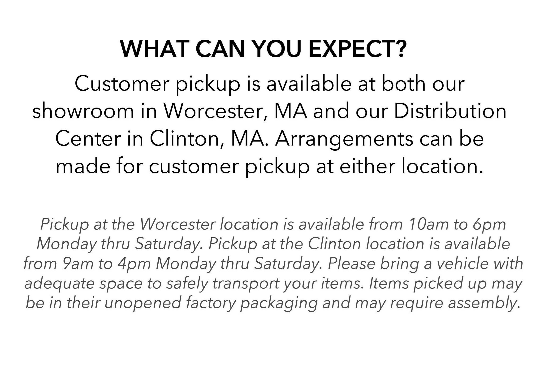 Customer Pick-Up Info 2