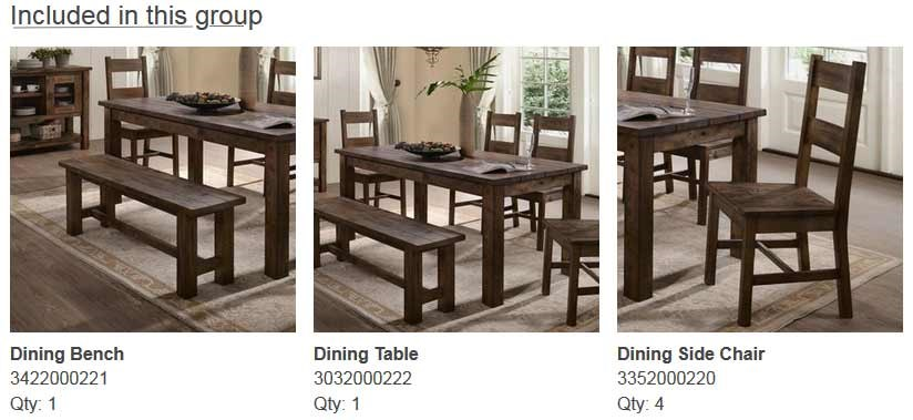 6PC Dining Set Included Pieces