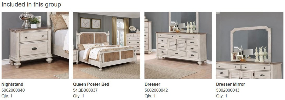 4PC Queen Bedroom Set Included Pieces