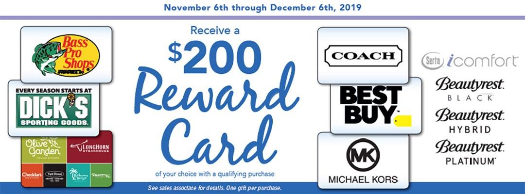 Serta-Simmons $200 Rewards Card Offer