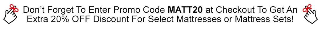MATT20 Promo Code Reminder
