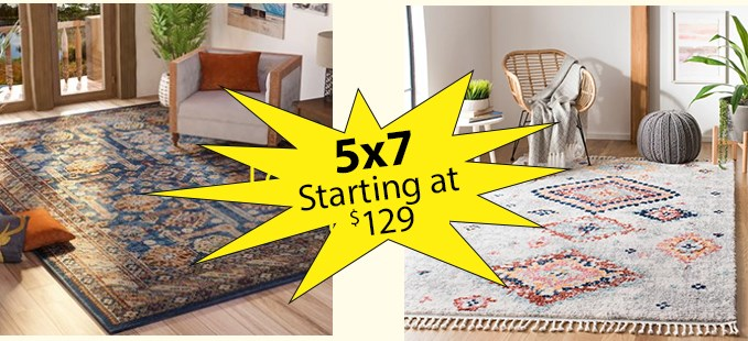 5x7 Rugs From $129
