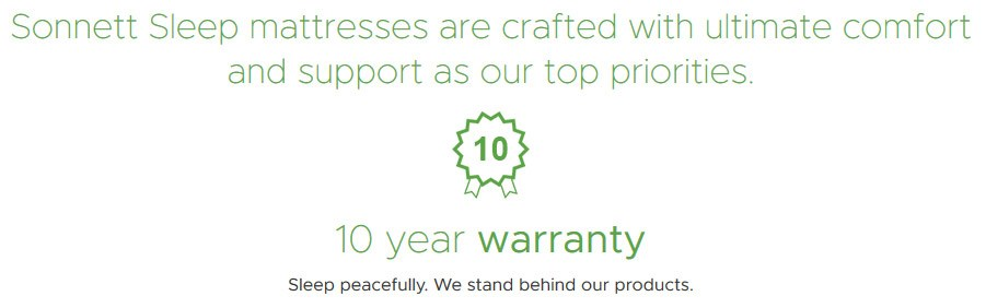 Sonnett Sleep Warranty