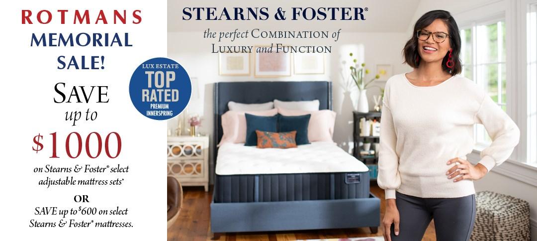 Stearns & Foster Memorial Day Mattress Sale At Rotmans