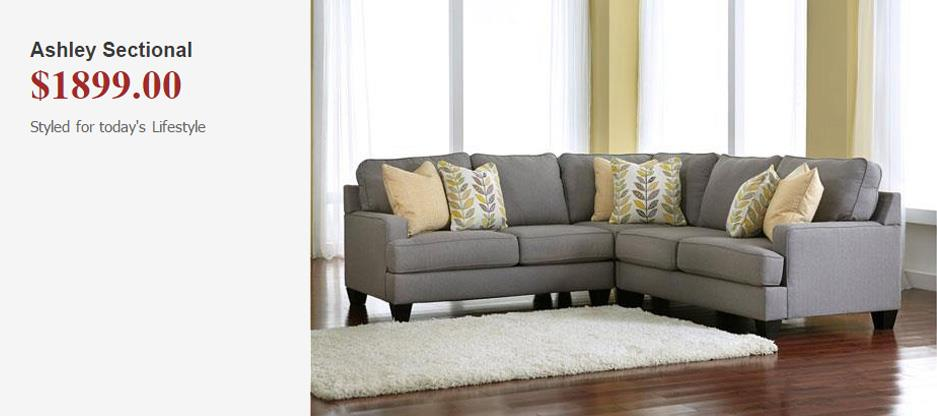 Ashley Sectional.  Styled for today's lifestyle