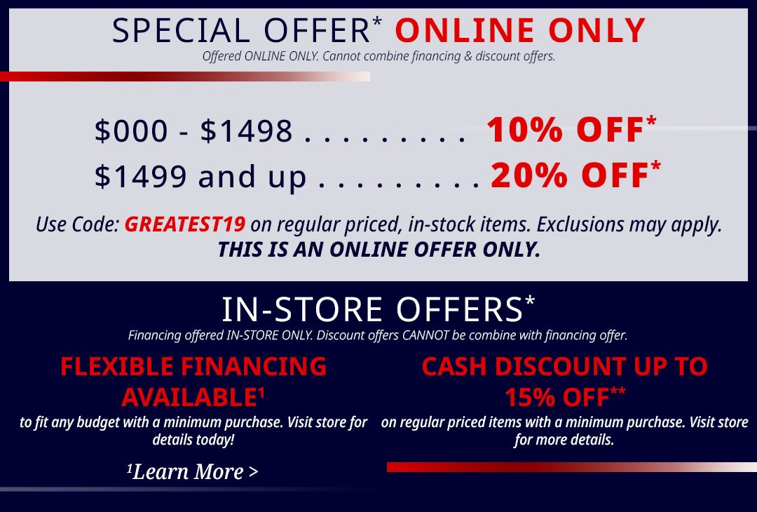 Greatest Sale on Earth Offer Details