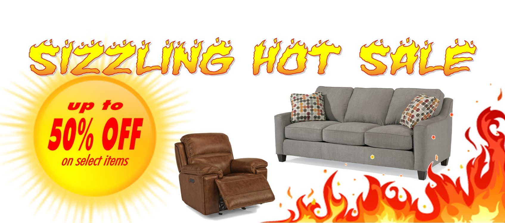 Save up to 50% OFF select items during the Sizzling Hot Sale
