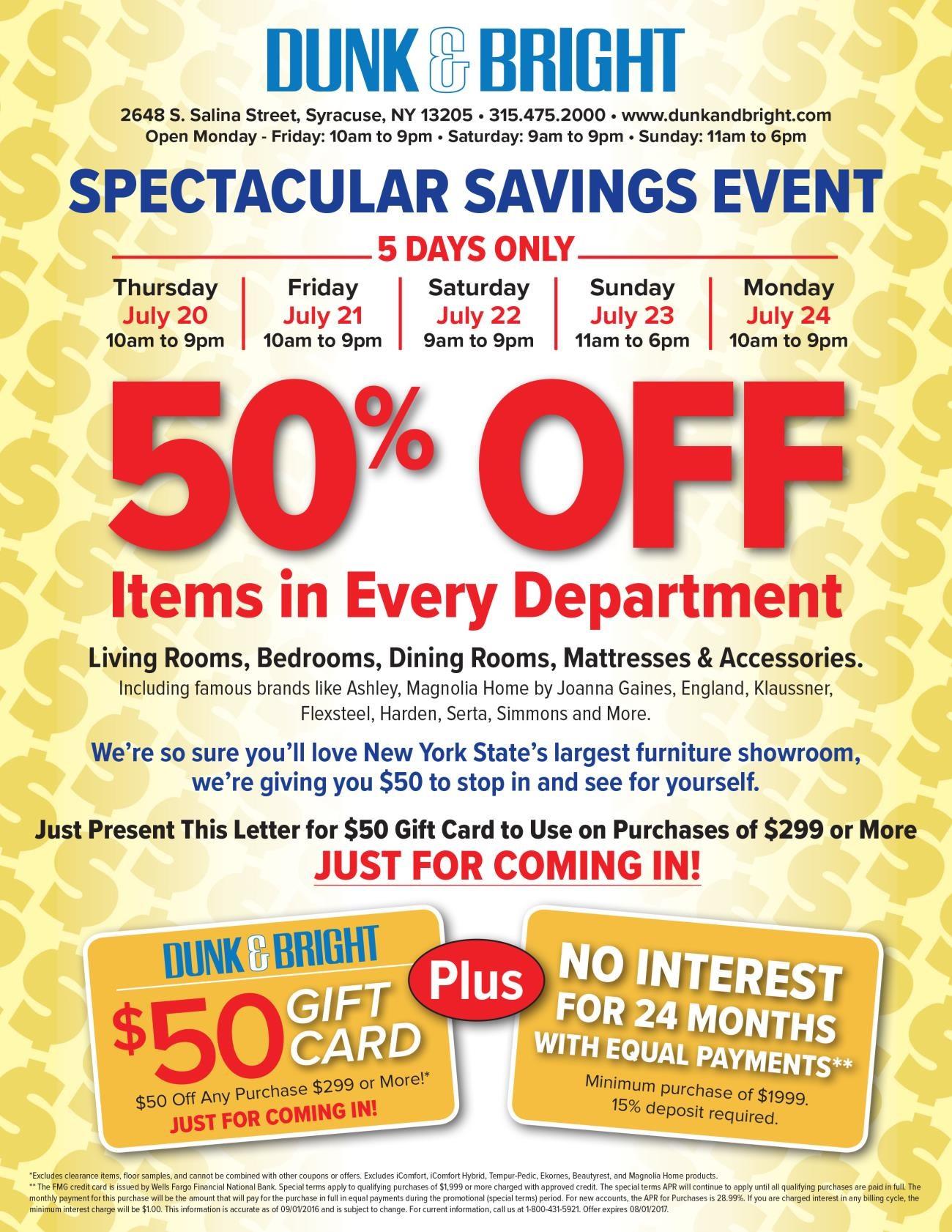 Summer Spectacular Savings