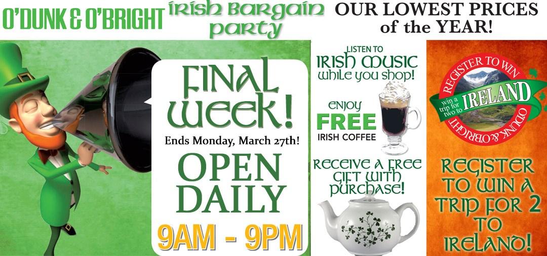 Irish Bargain Party