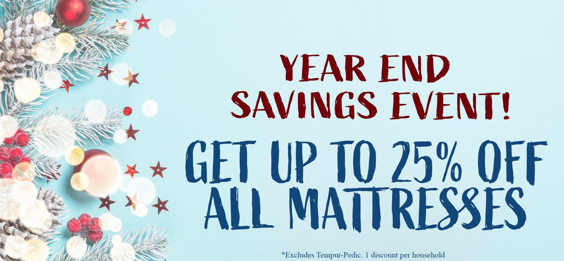 Year End Savings Mattress