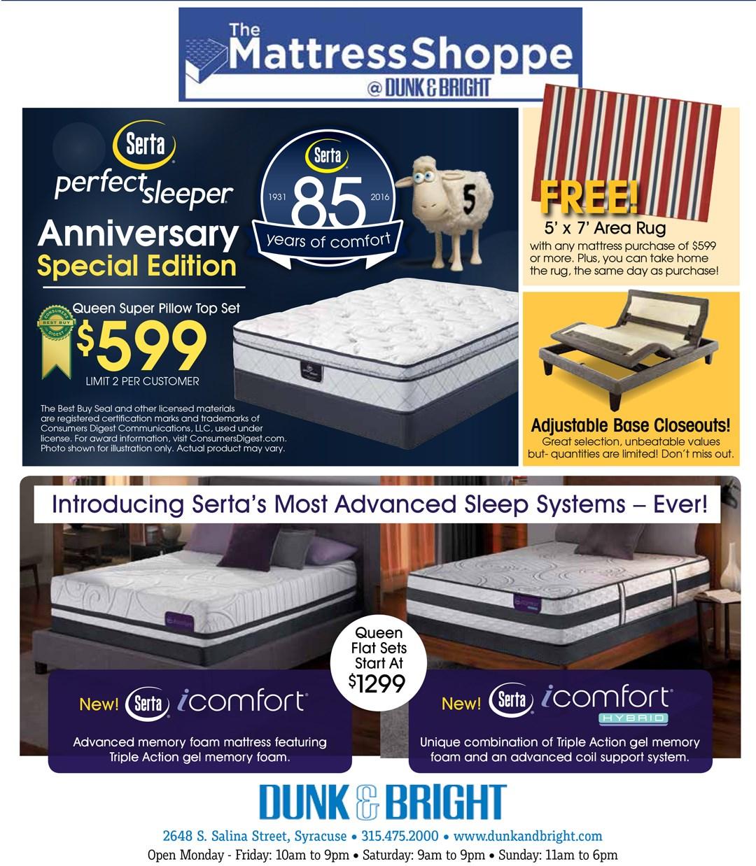 85 Years of Comfort Sale