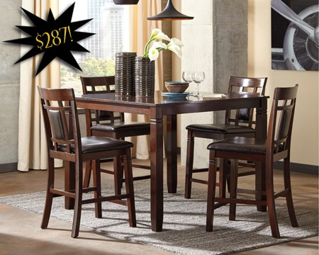 High Quality EYE POPPING DINING DEALS Contemporary 5 Piece Counter Height SetBlack Friday