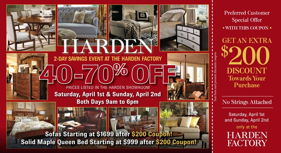 Harden Factory Sale At Dunk And Bright Furniture