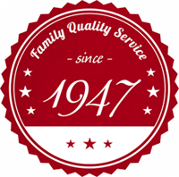 Family Quality Service since 1947 Logo
