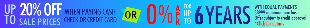 Special 0% APR Financing Up to 6 Years