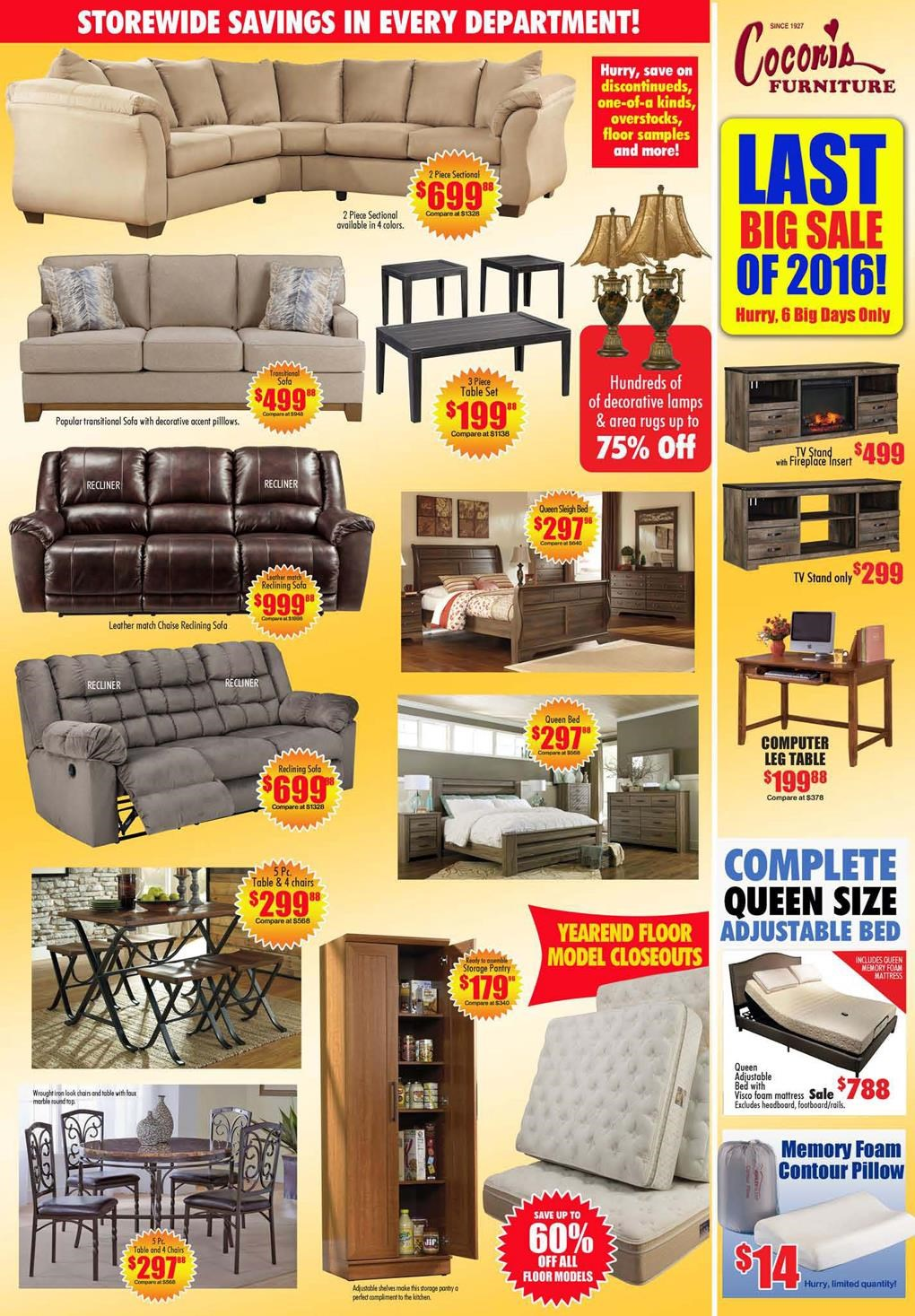 Last big sale of 2016 furniture mattress sale at for Furniture zanesville ohio