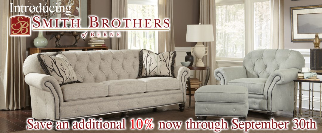 Introducing Smith Brothers of Berne. Save an additional 10% now through September 30th