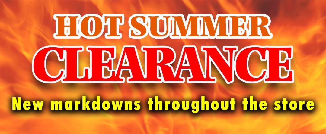 Hot Summer Clearance