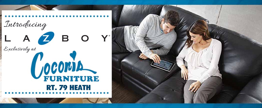 Introducing La-Z-Boy, now available exclusively at Coconis Furniture, Heath, Ohio