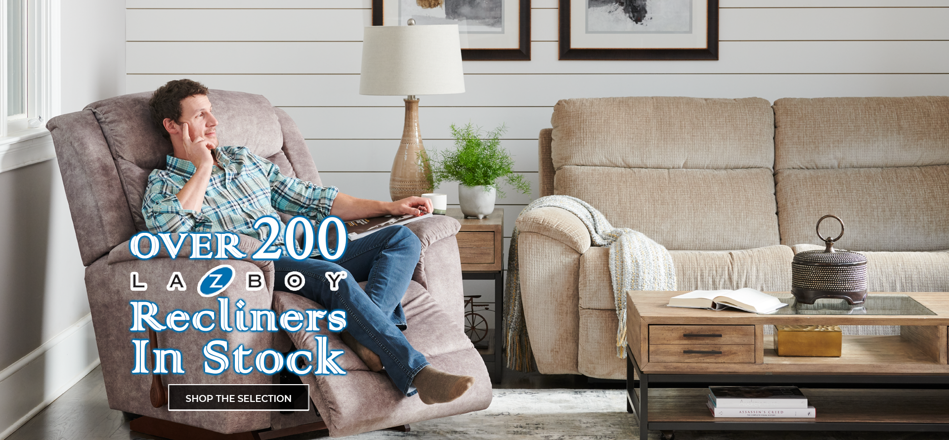 Over 200 La-Z-Boy Recliners In Stock. Click to shop the selection.