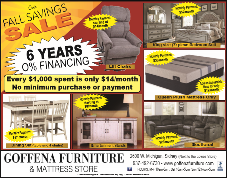 Fall Savings Sale