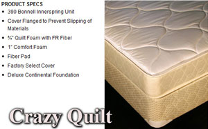 A Crazy Quilt mattress with its unique features listed by CLS Direct in Columbus, OH