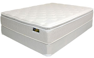 A new white mattress that can be purchased from CLS Direct in Columbus, OH