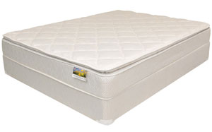 A new white mattress that can be obtained from CLS Direct in Columbus, OH