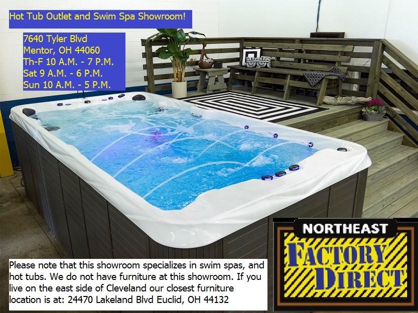 New swim spa showroom