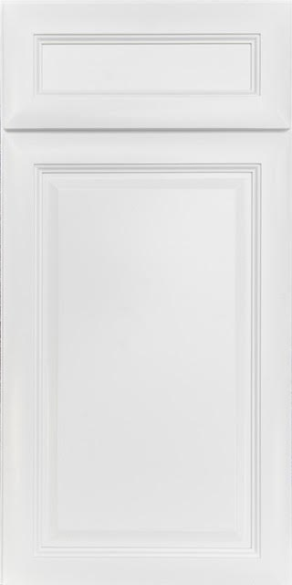 Raised Panel White Kitchen Cabinet