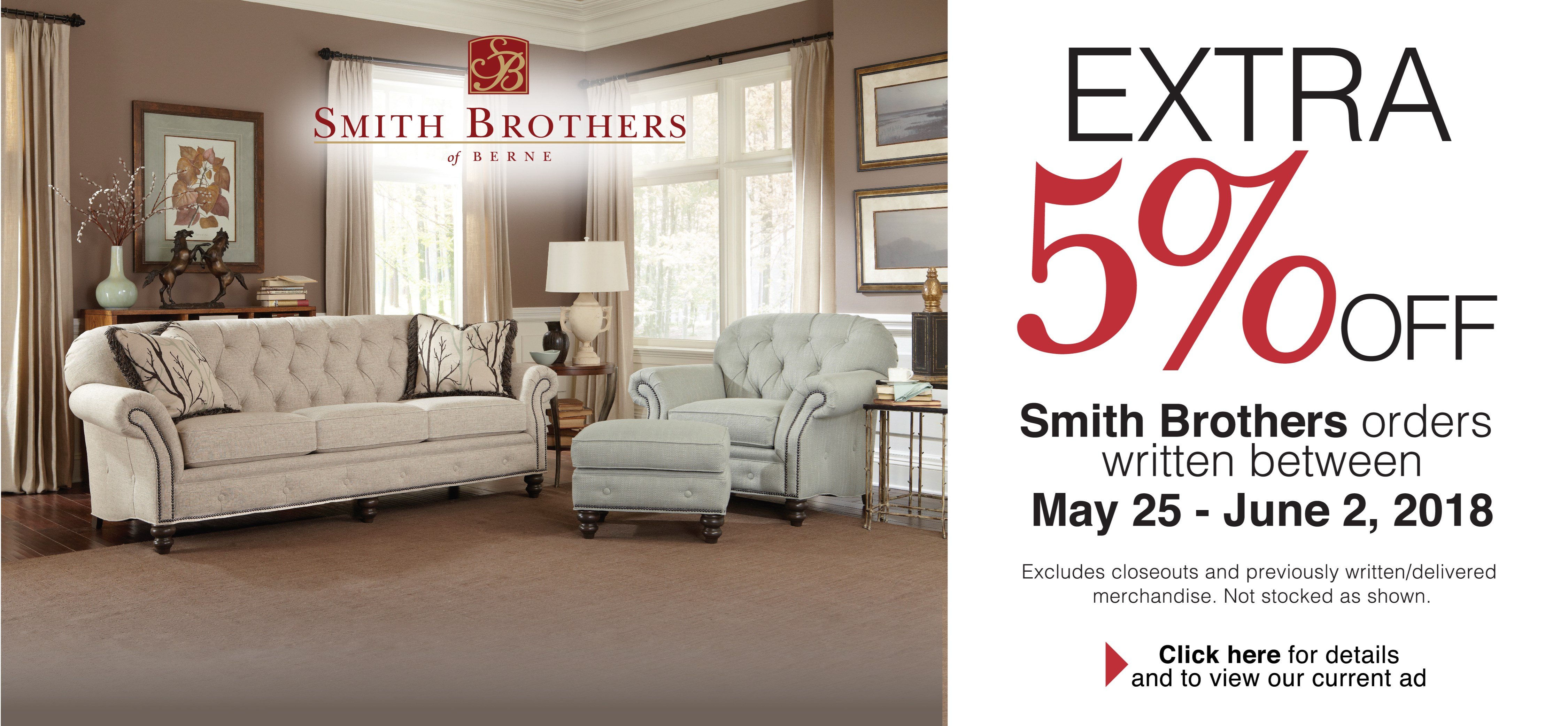 Memorial Day 2018 5% Off Smith Brothers