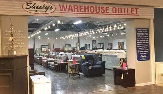 warehouse outlet appliance warehouse outlet sheely 39 s furniture appliance. Black Bedroom Furniture Sets. Home Design Ideas