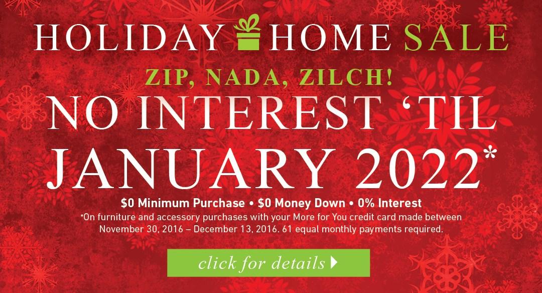 No Interest til 2022
