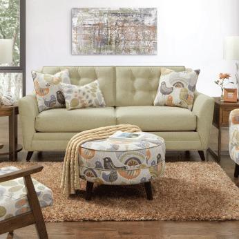 Mid Century Mix living room