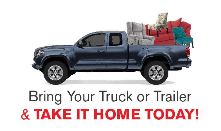 Bring your truck or trailer and bring it home today