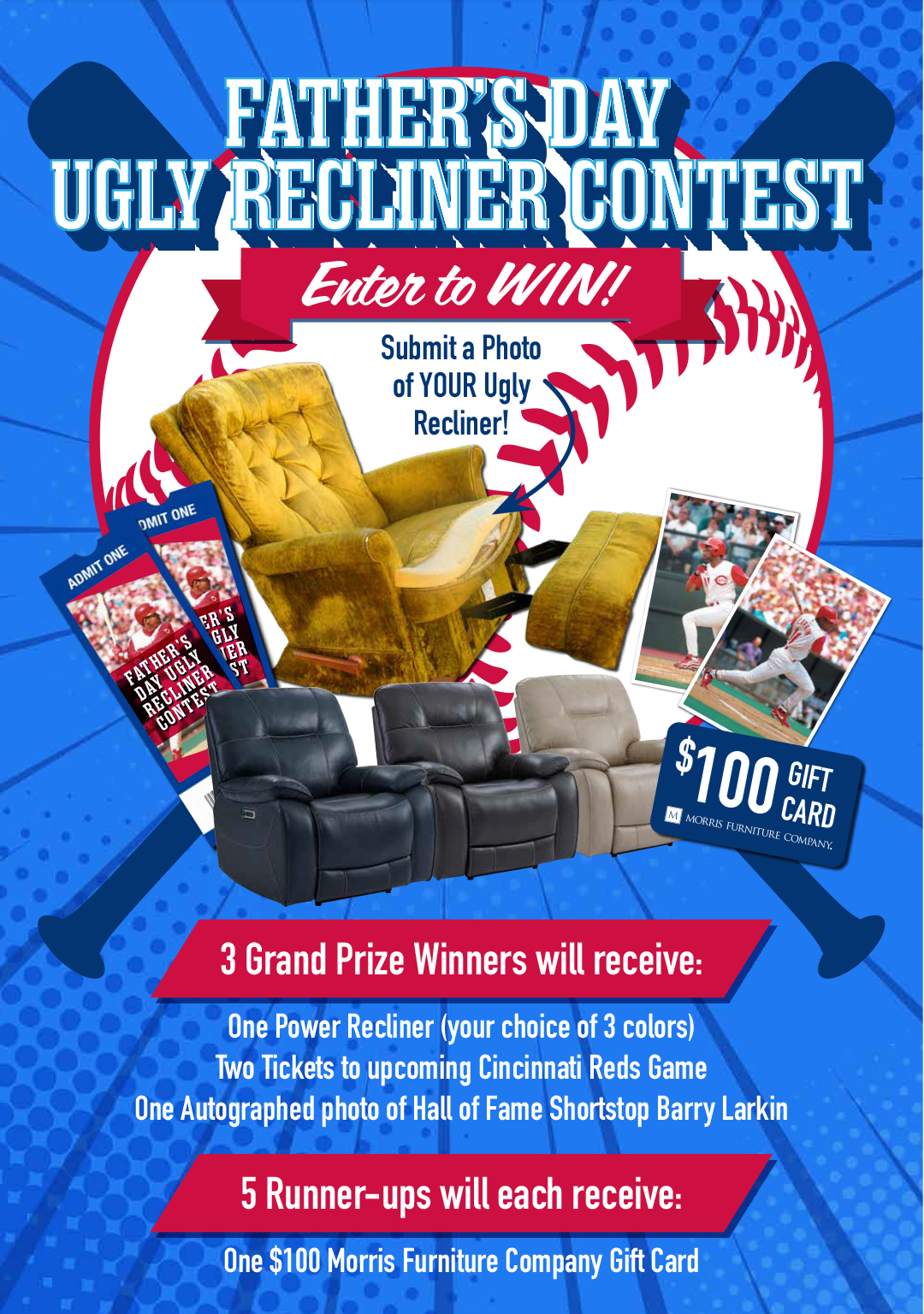 FATHERS DAY UGLY RECLINER CONTEST