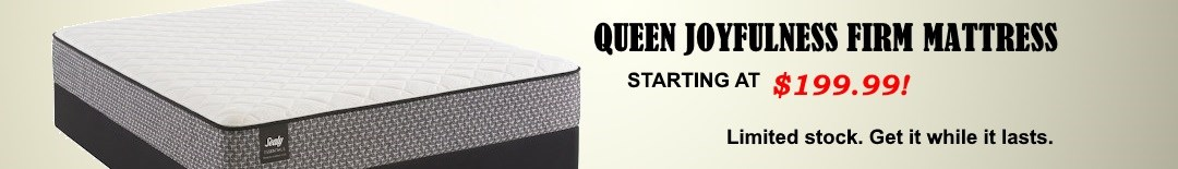 Queen Joyfulness Firm Mattress Starting at $199.99