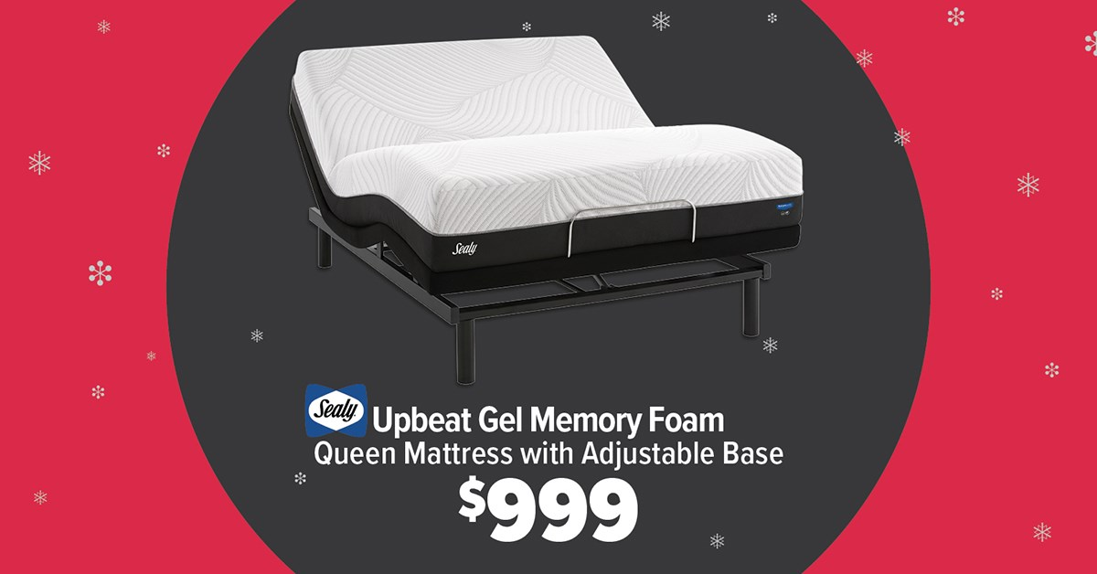 Sealy Upbeat mattress and adjustable base