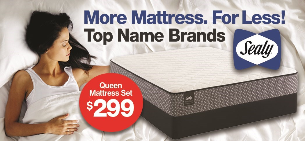 Sealy Queen Mattress Set $299