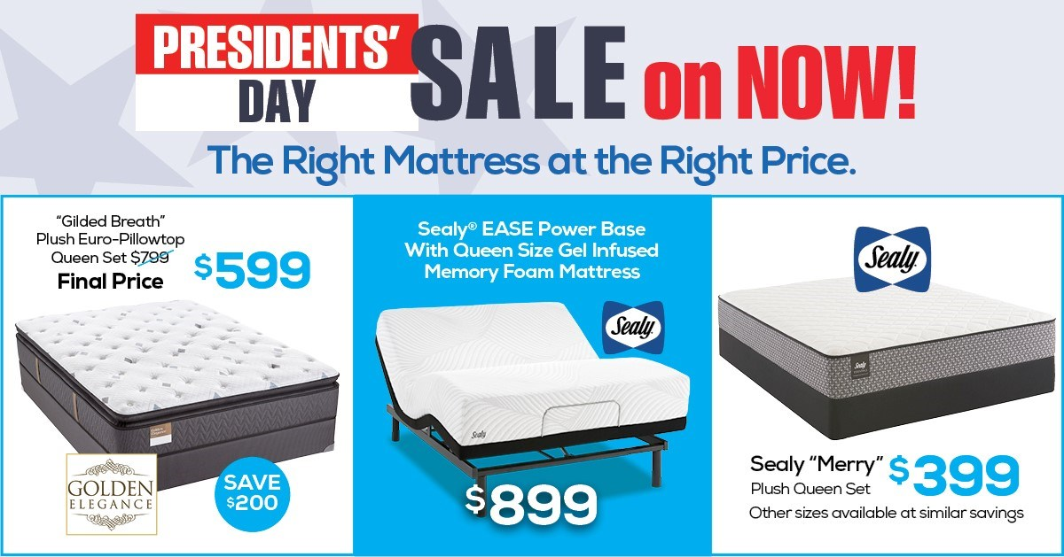 Presidents' Day Sale Mattresses Banner