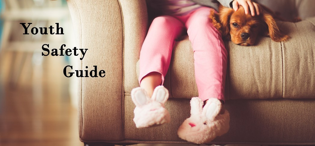 Youth Safety Guide - Girl and Dog on couch