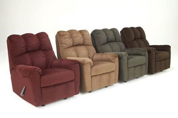 Rife's has a wide variety of recliners by Ashley, Best, Flexsteel, Stanton, Synergy, and more.  So come to Rife's, have a seat, and put your feet up...you've earned it!