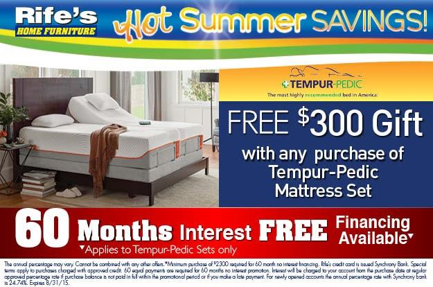 Come by and check our our lineup of Tempupedic mattresses, foundations, adjustable bases, and pillows.