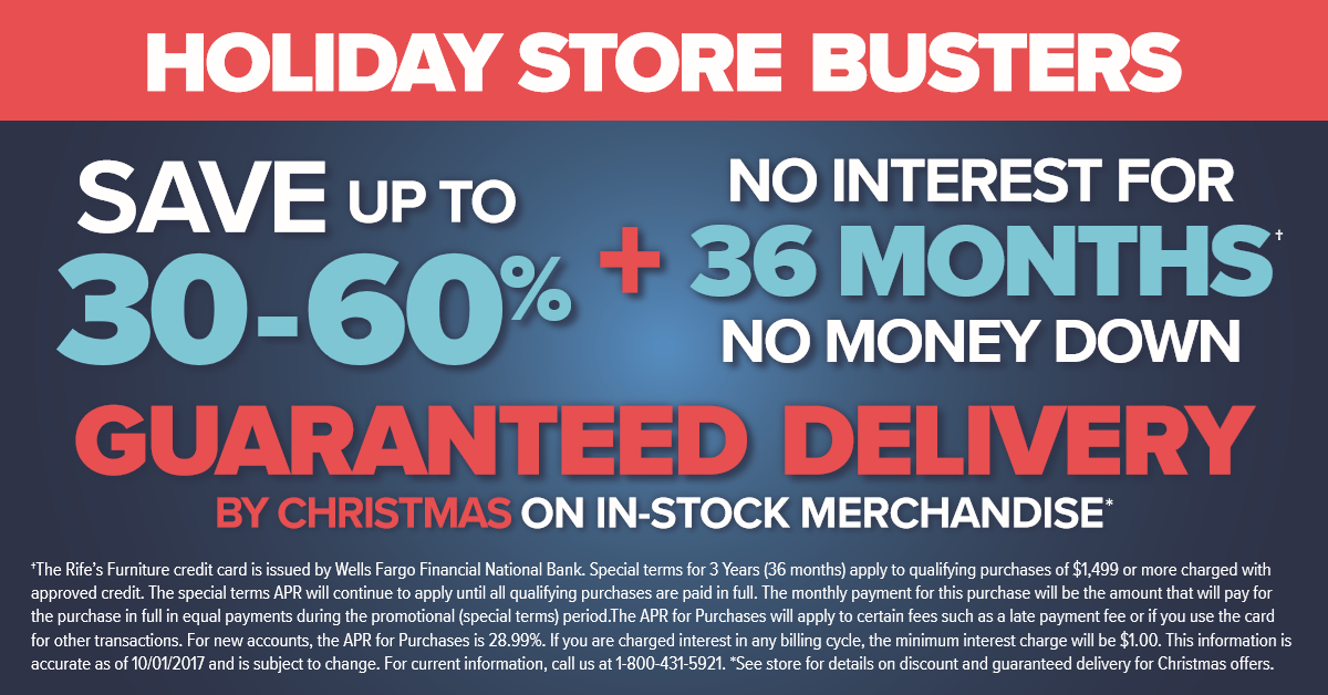 Holiday Store Busters Sale